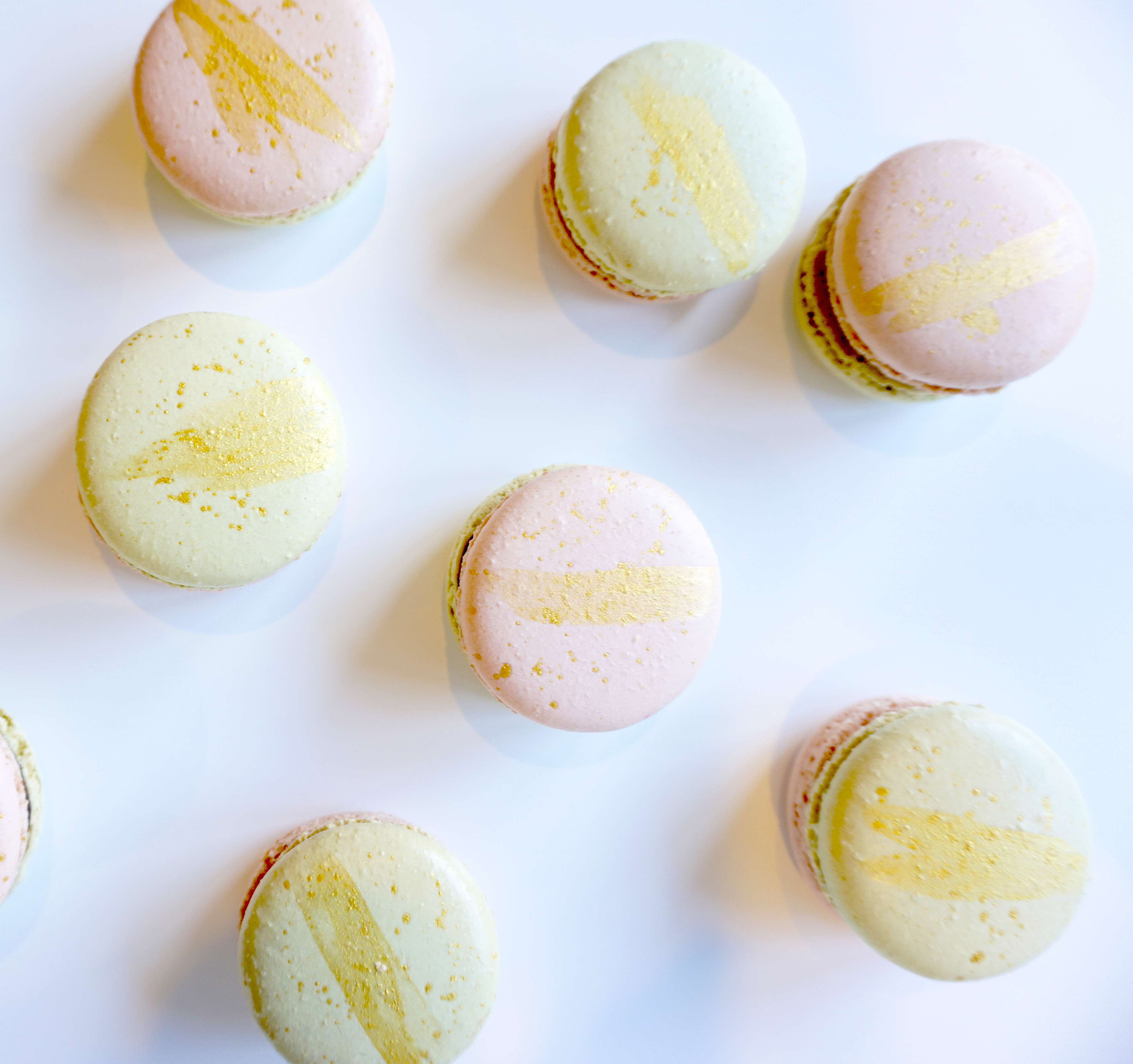 Mint Macarons With Dark Chocolate Ganache