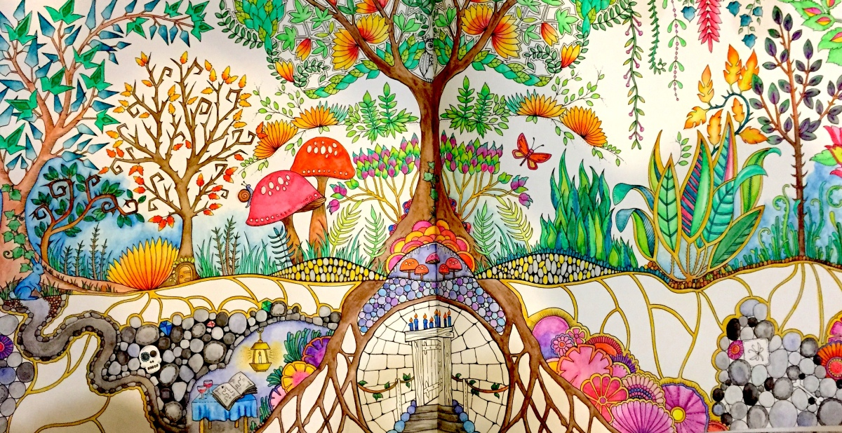 Enchanted Forest Colouring in